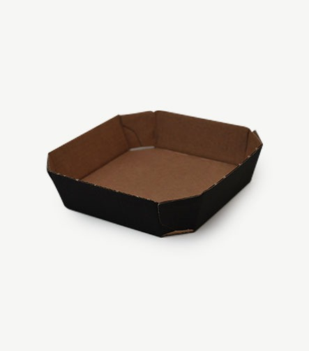 barquette carton neutre noir
