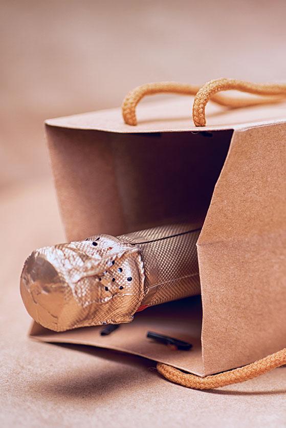 sac pour bouteille de vin