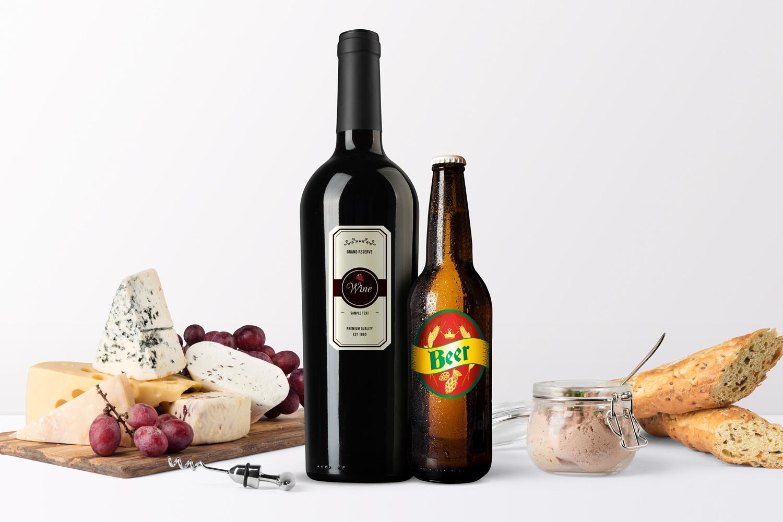 Etiquette bouteille verre