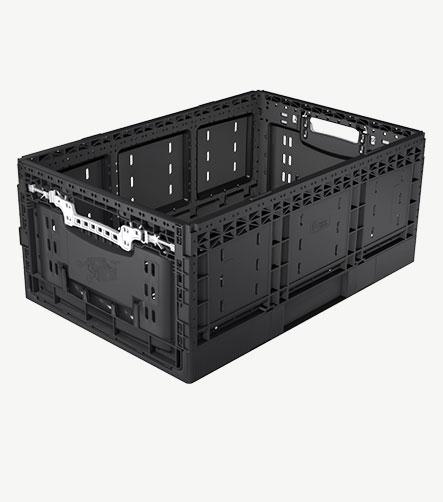 Bac plastique alimentaire RPC noir 625