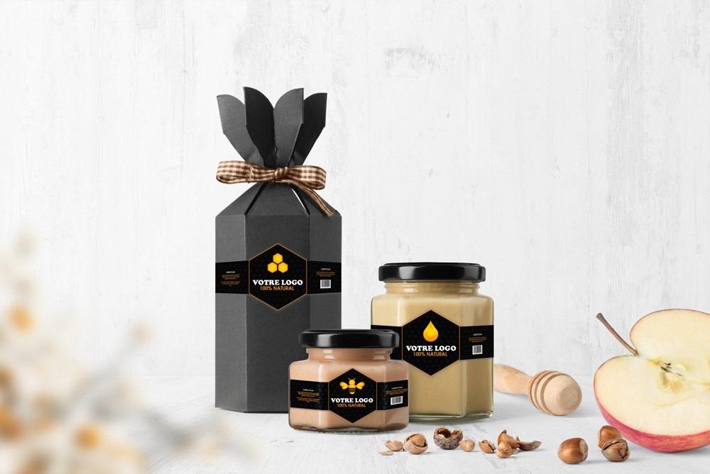 Etiquette personnalisable pot confiture ou miel