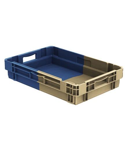 Caisse plastique bicolore