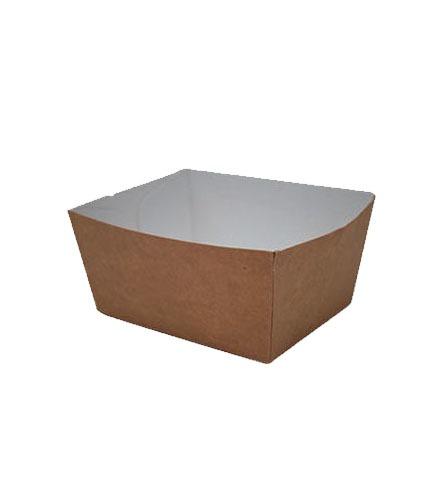 Barquette carton compact
