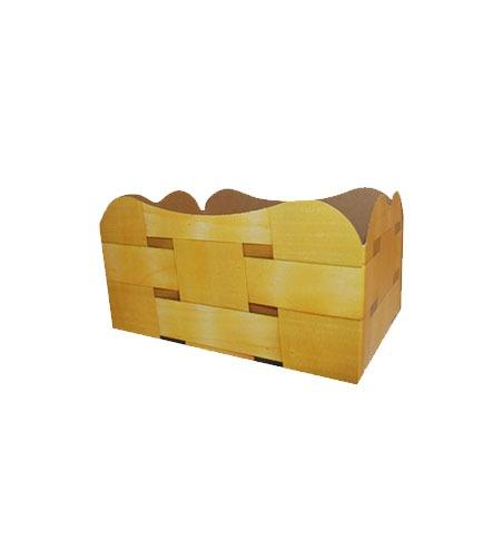 Barquette décor faux bois